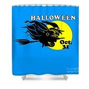 Jewish Halloween Witch Shower Curtain