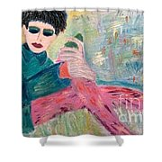 Jewish Woman Shower Curtain