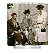Jews In Jerusalem, C1900 Shower Curtain
