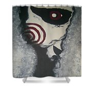 Jig, Saw, Face Shower Curtain