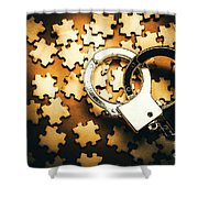 Jigsaw Of Misconduct Bribery And Entanglement Shower Curtain