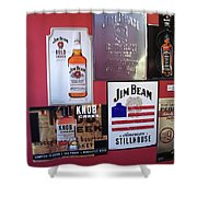 Jim Beam Signs On Display Shower Curtain