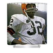 Jim Brown, Cleveland Browns, Signed Shower Curtain