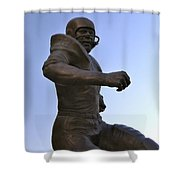 The Jim Brown Statue, Cleveland Browns Nfl Football Club, Cleveland, Ohio, Usa Shower Curtain