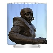 Jim Brown Statue Shower Curtain
