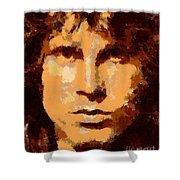 Jim Morrison - Digital Art Shower Curtain