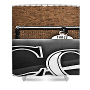 Jim Tracy Rockies Manager Shower Curtain by Marilyn Hunt