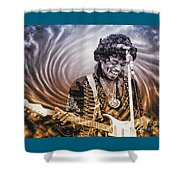 Jimi Hendrix - Legend Shower Curtain