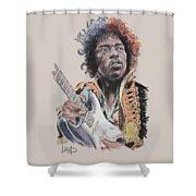 Jimi Hendrix  Shower Curtain