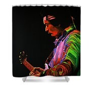 Jimi Hendrix 4 Shower Curtain