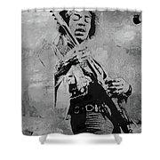 Jimi Hendrix Pop Star  Shower Curtain