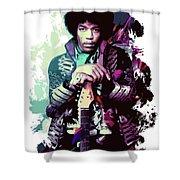 Jimi Hendrix, The Legend Shower Curtain