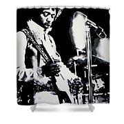 Jimmy Hendrix Purple Haze Shower Curtain