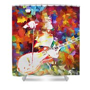 Jimmy Page Jamming Shower Curtain