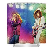 Jimmy Page - Robert Plant Shower Curtain