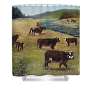 Jim's Cattle Shower Curtain