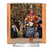 Jingle Dress Dancer At Star Feather Pow-wow Shower Curtain
