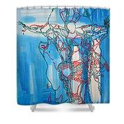 Jishu Christo - Jesus Christ Shower Curtain