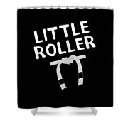 Jiu Jitsu Bjj Little Roller White Light Shower Curtain