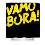 Jiu Jitsu Design Vamo Bora Yellow Light Martial Arts Shower Curtain