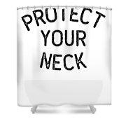 Jiu Jitsu Protect Your Neck Dark Jujitsu Bjj Gift Dark Shower Curtain