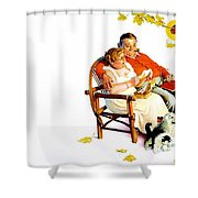 Jlm-norman Rockwell 28 Norman Rockwell Shower Curtain