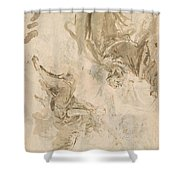 Joachim And The Angel Shower Curtain
