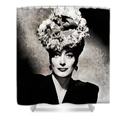 Joan Crawford, Hollywood Legend By John Springfield Shower Curtain