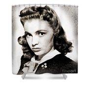 Joan Leslie, Vintage Actress Shower Curtain