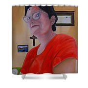 Joan Of Smart Shower Curtain