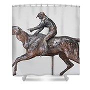 Jockey With Cap Shower Curtain