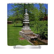 Joe And Marie Schedel Pagoda-horizontal Shower Curtain