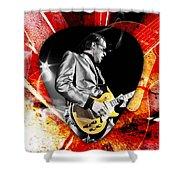 Joe Bonamassa Blue Guitar Art Shower Curtain