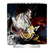 Joe Bonamassa Blue Guitarist Shower Curtain