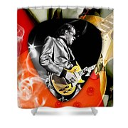 Joe Bonamassa Blues Guitar Art Shower Curtain