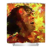 Joe Cocker Colorful Palette Knife Shower Curtain
