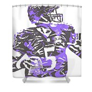 Joe Flacco Baltimore Ravens Pixel Art 5 Shower Curtain
