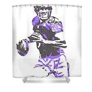 Joe Flacco Baltimore Ravens Pixel Art 7 Shower Curtain