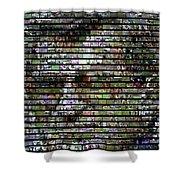 Joe Paterno Mosaic Shower Curtain by Paul Van Scott