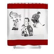 Joe Sakic Shower Curtain