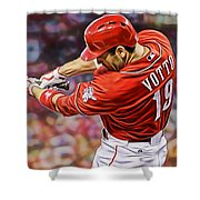 Joey Votto Baseball Shower Curtain