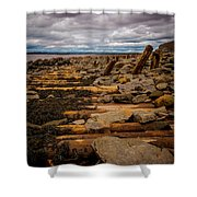 Joggins Fossil Cliffs Shower Curtain