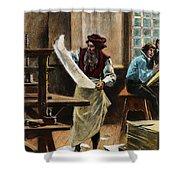 Johann Gutenberg Shower Curtain