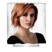 Johanna In Black Broad Shower Curtain