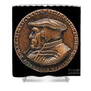 Johannes Pistorius (1504-1583) [obverse] Shower Curtain