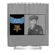 John Basilone And The Medal Of Honor Shower Curtain