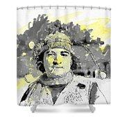 John Belushi Killer Bee Shower Curtain