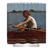 John Biglin In A Single Scull Shower Curtain