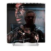John Coltrane And Me Shower Curtain