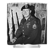 John Dane In Viet Nam  Uniform American Fork Utah 1975 Shower Curtain